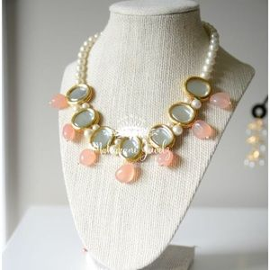 Jewelry - Kundan and pearl necklace and earrings set